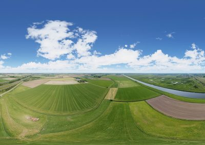 Interactieve 360-graden luchtpanorama